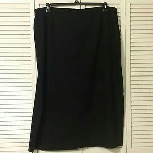 First Option Too Jet Black Skirt with Back Split